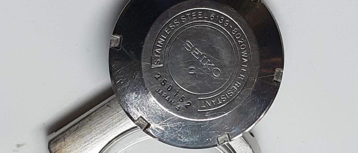 Seiko 6139-8020 kast en deksel met krassen