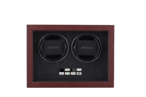 Vooraanzicht Benson Compact 2.18 Dark Brown Leather