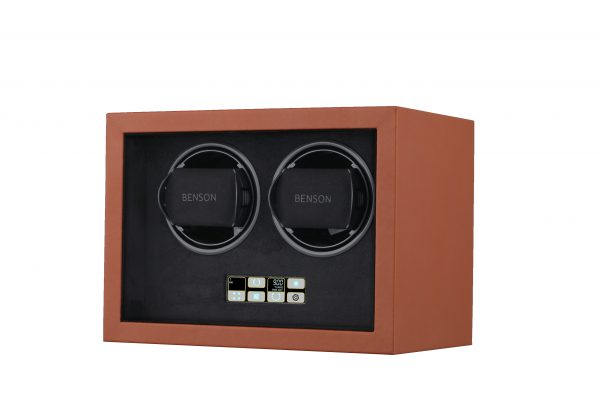 Schuin vooraanzicht Benson Compact 2.18 Light Brown Leather